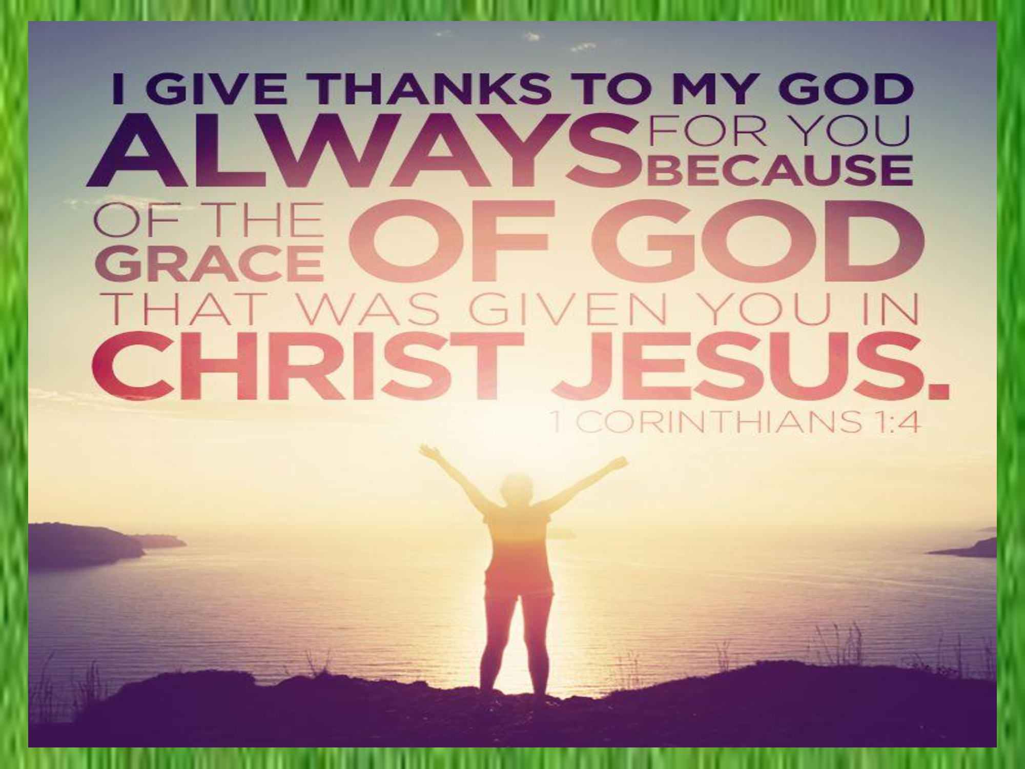 Living under the grace of god